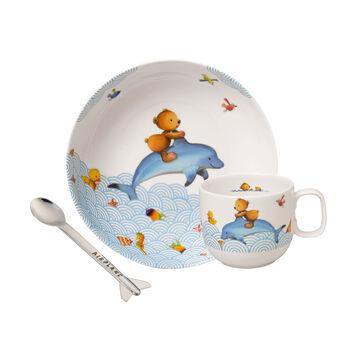 Happy as a Bear Ens. de vaisselle pr enfants, 3pcs