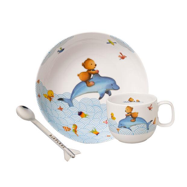 Happy as a Bear Ens. de vaisselle pr enfants, 3pcs, , large