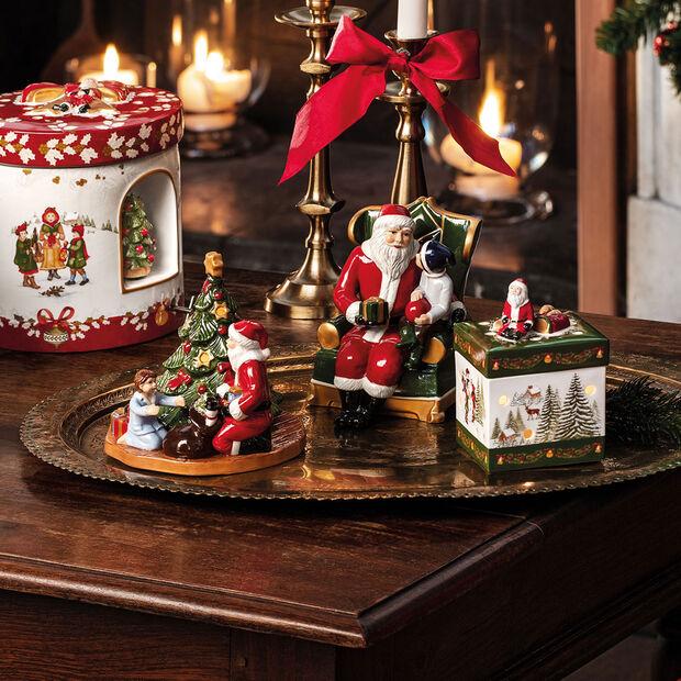 Christmas Toys Petite boîte cadeau carrée, Père Noël 9x9x13cm, , large