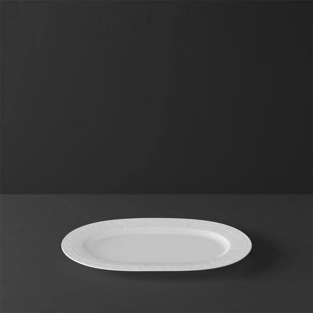 White Pearl plat ovale 41cm, , large