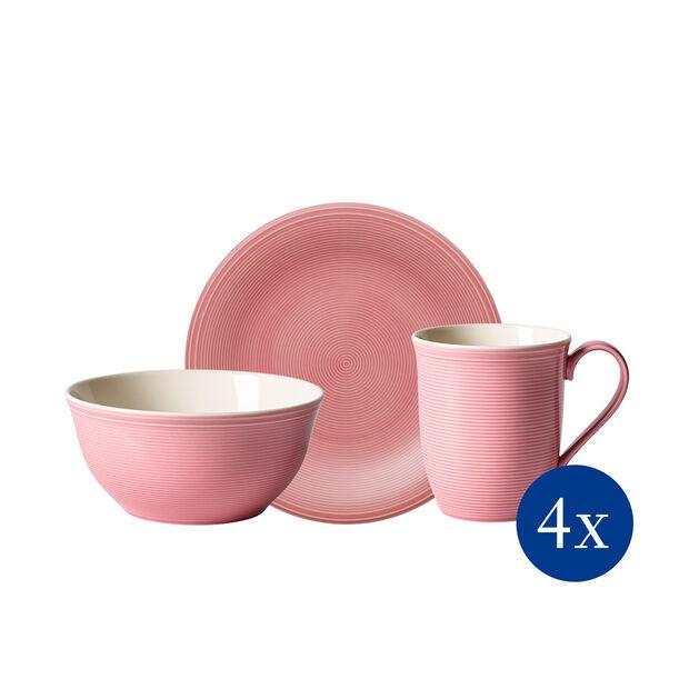 Color Loop Rose ensemble pour le petit-déjeuner, rose, 12pièces, , large