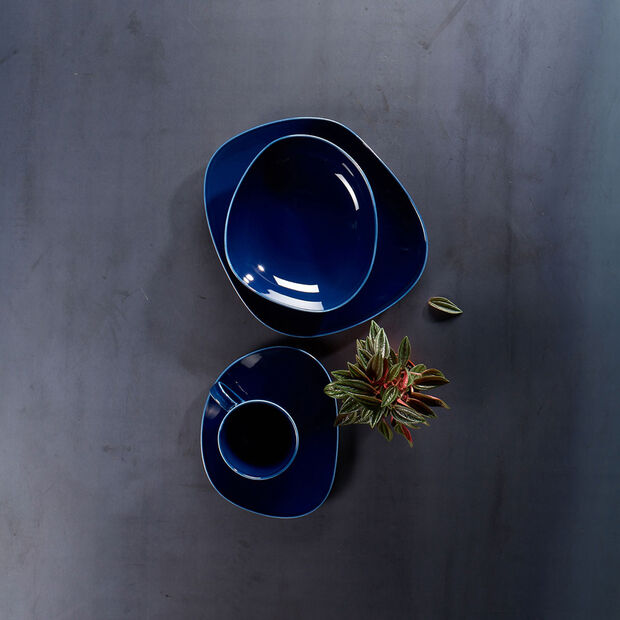 Organic Dark Blue sous-tasse à café, bleu foncé, 17,5cm, , large