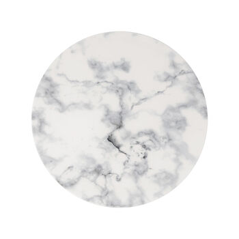 Marmory assiette plate blanche, 27x27x1,5cm