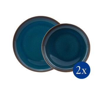 Crafted Denim service de table, bleu, 4pièces