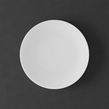 MetroChic blanc Assiette à gâteau/dessert 22x22x2cm