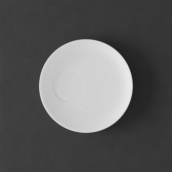 MetroChic blanc Soucoupe tasse moka 14,5x14,5x1,5cm