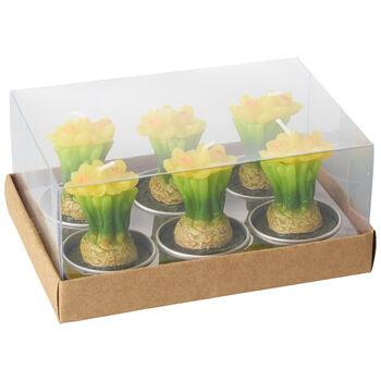 Spring Fantasy Accessories Bougie chauffe-plat jonquille set de 6 8x14x9,5cm