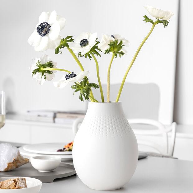 Manufacture Collier blanc Vase Perle haut 16x16x20cm, , large