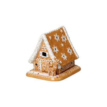 Winter Bakery Decoration maison en pain d'épices, marron/blanc, 15x13x14cm