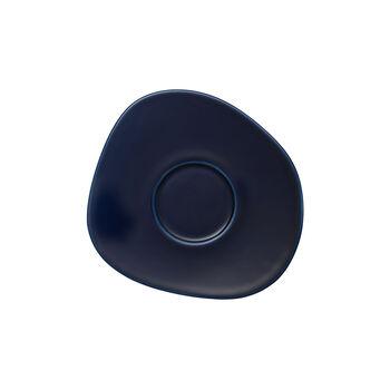 Organic Dark Blue sous-tasse à café, bleu foncé, 17,5cm