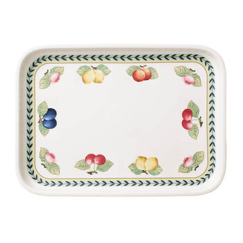 French Garden plats à gratin Plat à servir / Couvercle rectangulaire 36x26cm