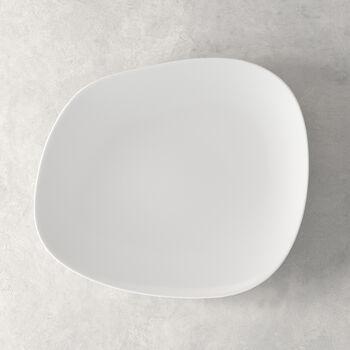 Organic White assiette plate 28x24x3cm