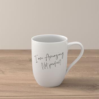 Statement mug «I'm amazing. Not perfect»