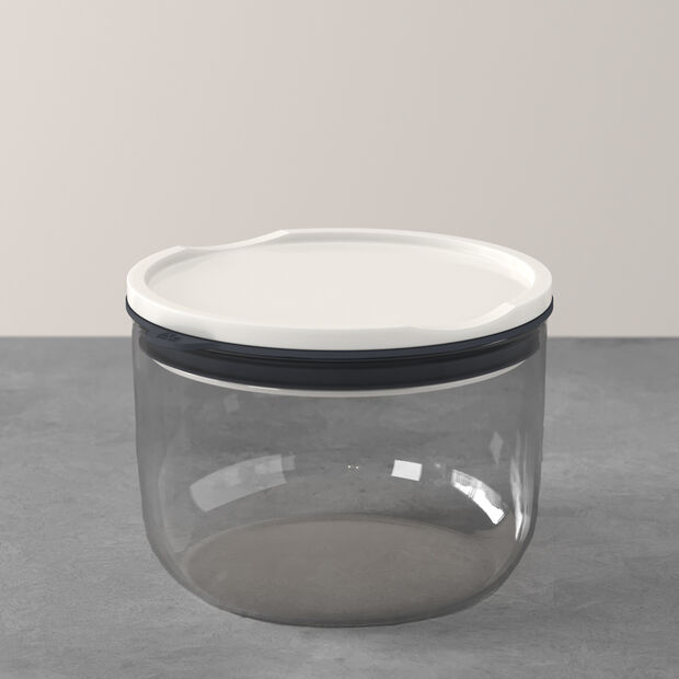 ToGo&ToStay boîte à repas, 13x9,5cm, ronde, grise, , large