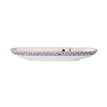 Artesano Provençal Lavande coupe à olives 28x8cm