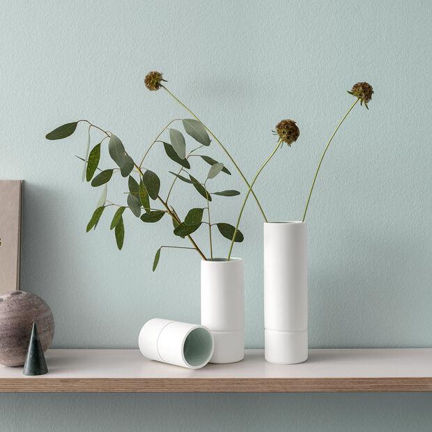 it's my home petit vase, 6x10cm, vert/blanc, , large