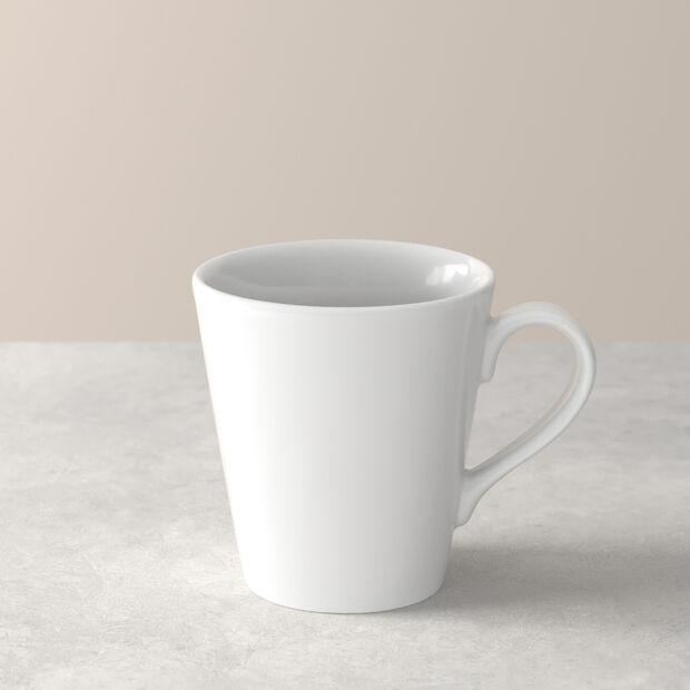 Organic White mug à anse, blanc, 350ml, , large