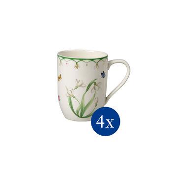 Colourful Spring mug à café, fleurs, 340ml, 4pièces