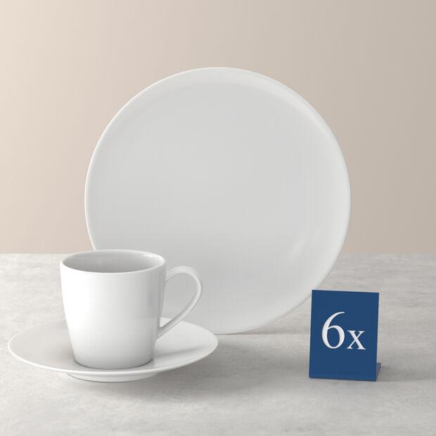 Voice Basic ensemble à café, blanc, 18pièces, , large