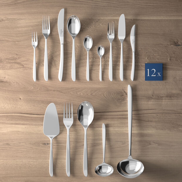 Set complet de couverts de table 113pièces SoftWave, , large