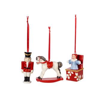 Nostalgic Ornaments ensemble d'ornements jouets, multicolore, 3pièces, 9,5cm