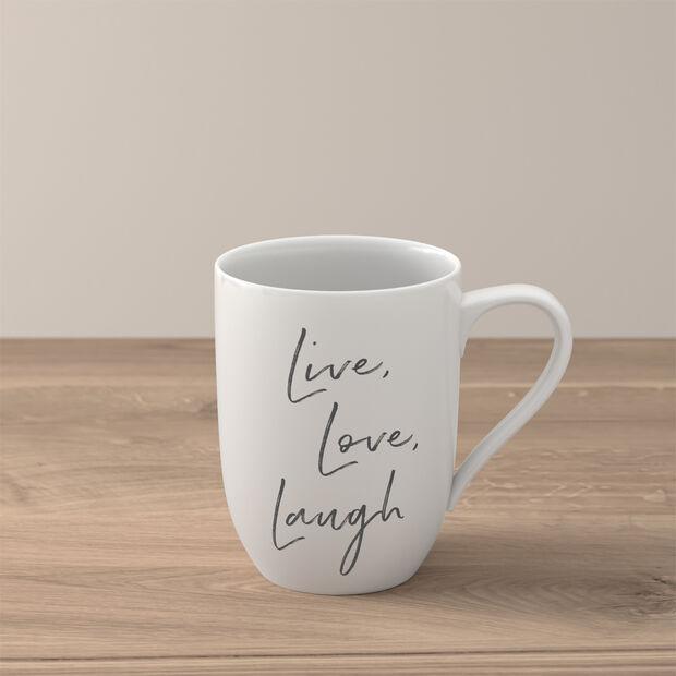 Statement mug «Live Love Laugh», , large