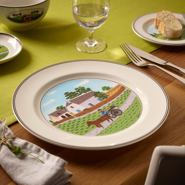 Design Naif assiette plate motif fermier, , large