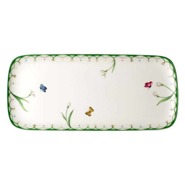 Colourful Spring plat à gâteau rectangulaire 35x16 cm, , large