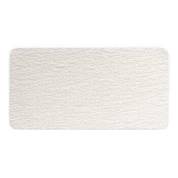 Manufacture Rock Blanc plat à servir rectangulaire, blanc, 35x18x1cm