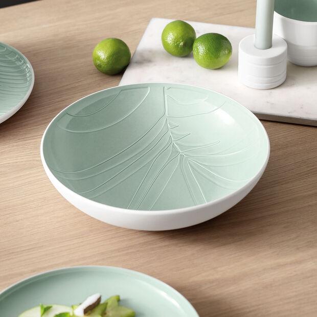 it's my match plat creux de service Leaf, 26x6,5cm, vert minéral, , large