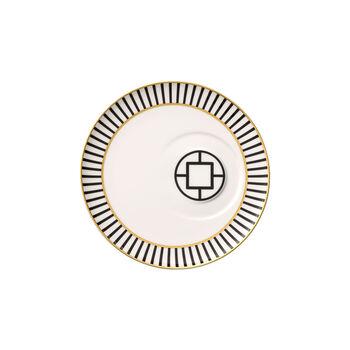 MetroChic sous-tasse à café, diamètre 18,5cm, blanc-noir-or