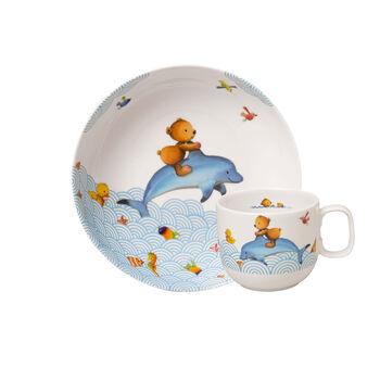 Happy as a Bear Ens. de vaisselle pr enfants, 2pcs