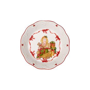 Toy's Fantasy petite coupe motif ouverture des cadeaux, rouge/multicolore, 16,5x16,5x3cm
