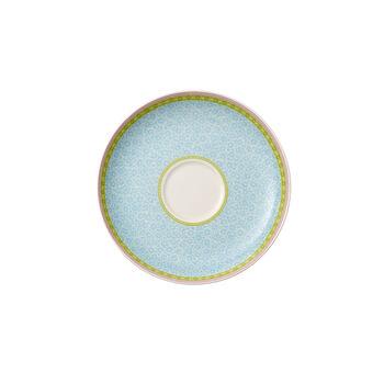 Rose Cottage Soucoupe tasse à thé bleue 18cm