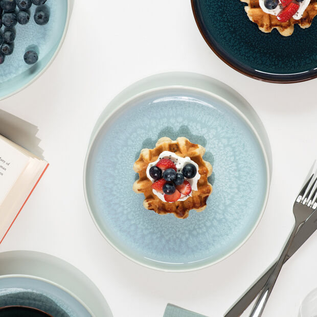 Crafted Blueberry assiette à dessert, turquoise, 21cm, , large