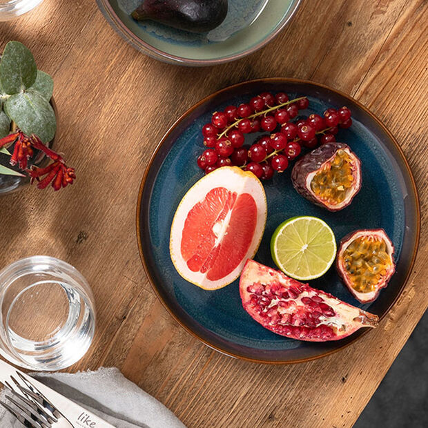 Crafted Denim assiette creuse, bleu, 21,5cm, , large