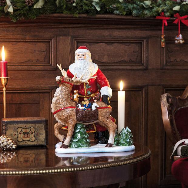 Christmas Toys Memory Père Noël avec cerf, 30x24x35cm, , large