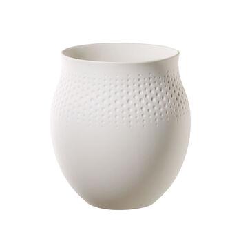 Manufacture Collier blanc Vase Perle grand 16,5x16,5x17,5cm