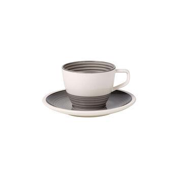 Manufacture gris Tasse à café avec soucoupe 2pcs