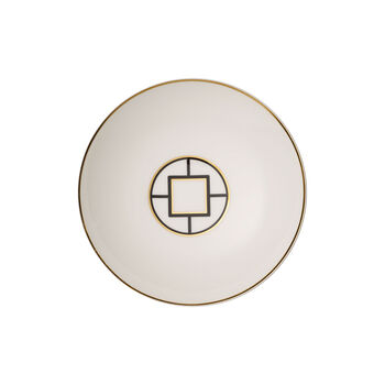 MetroChic assiette creuse, diamètre 20cm, profondeur 5cm, blanc-noir-or