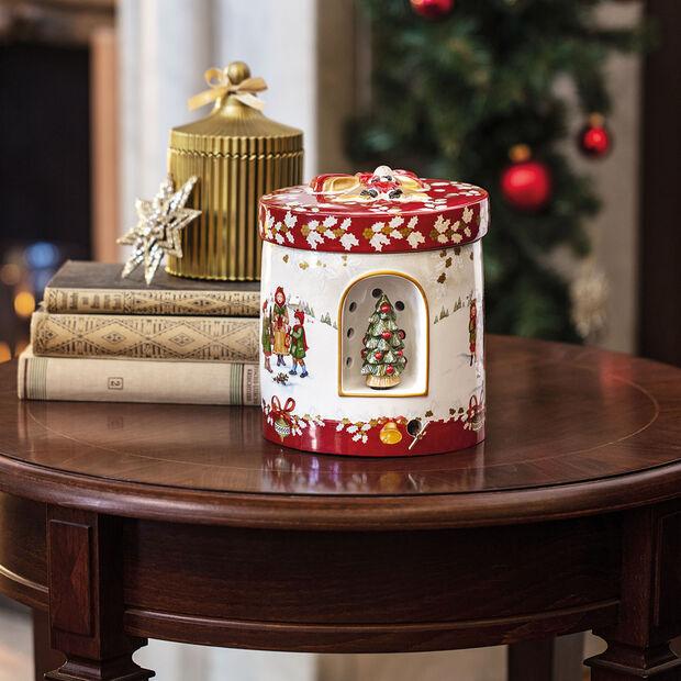 Christmas Toy's grand paquet-cadeau rond, vert/multicolore, 17x17x20cm, , large