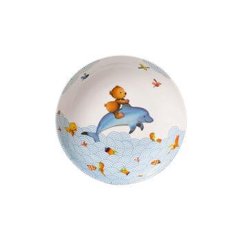 Happy as a Bear Assiette creuse pour enfants 18,5x18,5x4,5cm