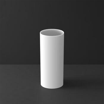 MetroChic blanc Gifts Vase haut 13x13x30,5cm