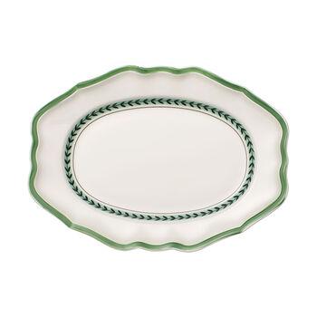 French Garden Green Line plat ovale