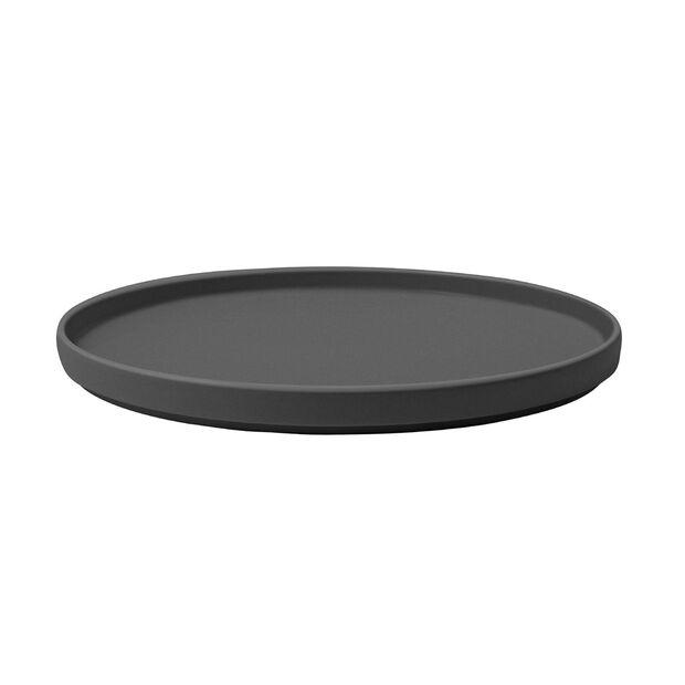 Iconic assiette universelle, noire, 24x2cm, , large