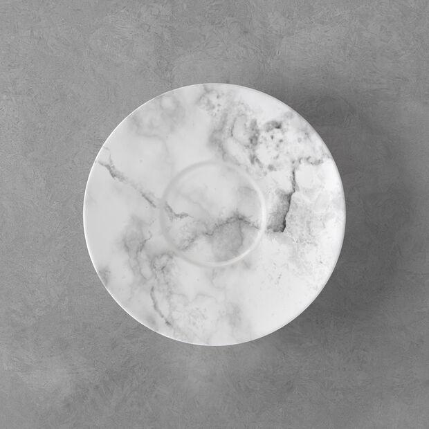 Marmory sous-tasse à café blanche, 16x16x2cm, , large