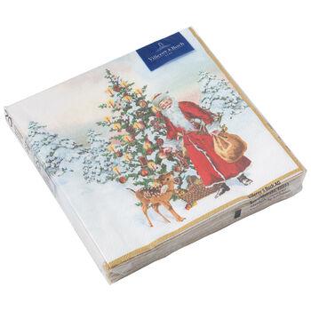 Winter Specials Serviettes L Père Noël avec sapin 33x33cm