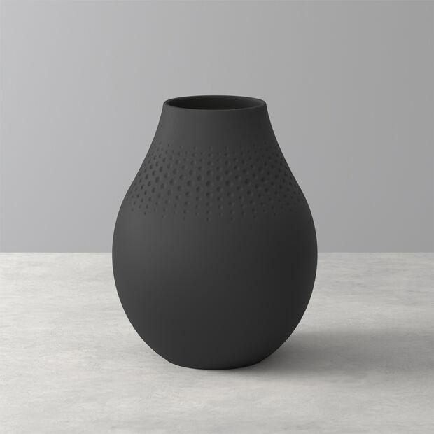 Manufacture Collier noir Vase Perle haut 16x16x20cm, , large