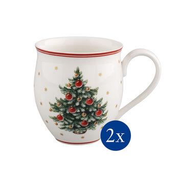 Toy's Delight mug à café sapin de Noël ensemble de 2pièces