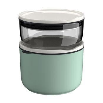 ToGo&ToStay ensemble de boîtes à repas, 2pièces, verre, gris/vert menthe